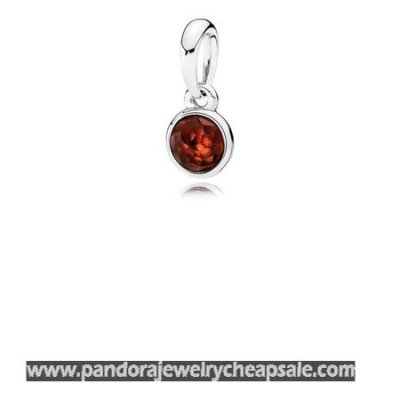 Pandora Pendants January Droplet Pendant Garnet Cheap Sale