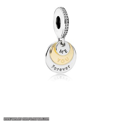 Pandora Valentine'S Day Charms You Me Forever Pendant Charm Clear Cz Cheap Sale