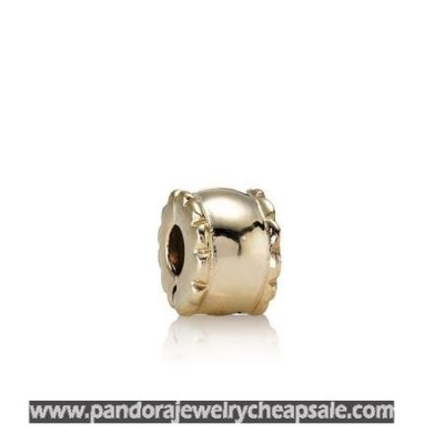 Pandora Collections Beveled Clip 14K Gold Cheap Sale