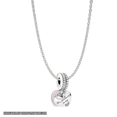 Pandora Mother And Daughter Hearts Necklace Gift Set Cheap Sale