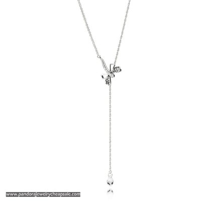 Pandora Dreamy Dragonfly Necklace Cheap Sale