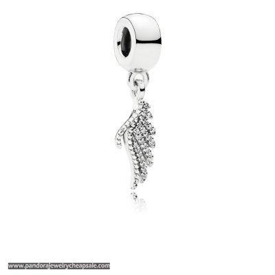 Pandora Sparkling Paves Charms Majestic Feather Pendant Charm Clear Cz Cheap Sale