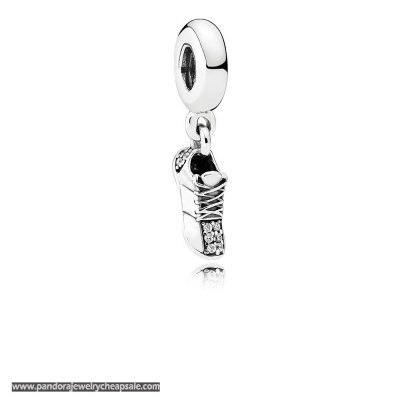 Pandora Passions Charms Sports Recreation Running Shoe Pendant Charm Clear Cz Cheap Sale
