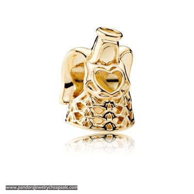 Pandora Collections Angel Of Grace Charm 14K Gold Cheap Sale