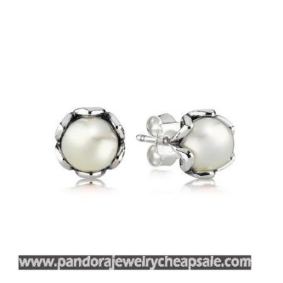Pandora Earrings Cultured Elegance Stud Earrings White Pearl Cheap Sale