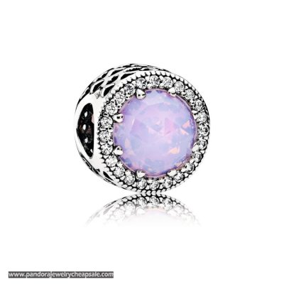 Pandora Opalescent Pink Radiant Hearts Openwork Charm Cheap Sale