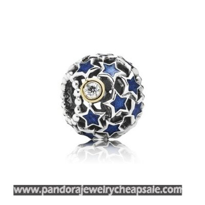 Pandora Zodiac Celestial Charms Night Sky Charm Blue Enamel Clear Cz Cheap Sale