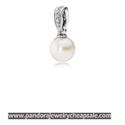 Pandora Pendants Elegant Beauty Pendant White Pearl Clear Cz Cheap Sale