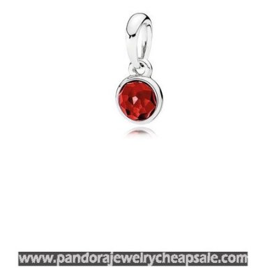Pandora Pendants July Droplet Pendant Synthetic Ruby Cheap Sale