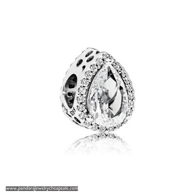 Pandora Passions Charms Chic Glamour Radiant Teardrop Charm Clear Cz Cheap Sale
