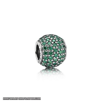 Pandora St. Patrick'S Day Good Luck Charms Pave Lights Charm Dark Green Cz Cheap Sale