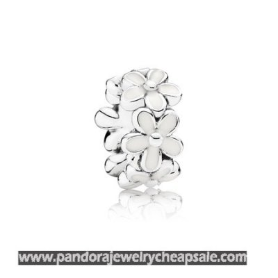 Pandora Spacers Charms Darling Daisies Spacer White Enamel Cheap Sale