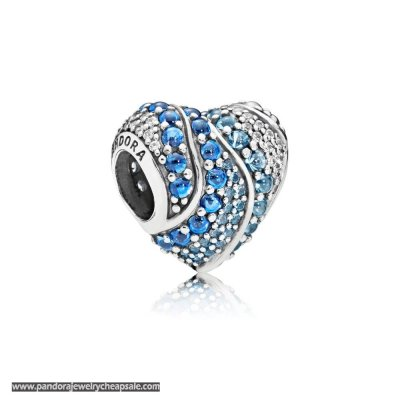 Pandora Aqua Heart Charm Cheap Sale