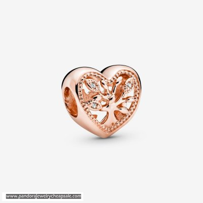 Pandora Openwork Family Tree Heart Charm Cheap Sale