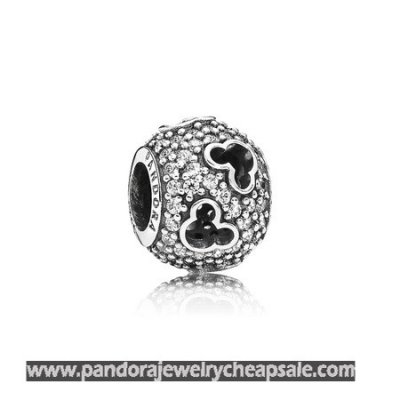 Pandora Disney Charms Mickey Silhouettes Charm Clear Cz Cheap Sale