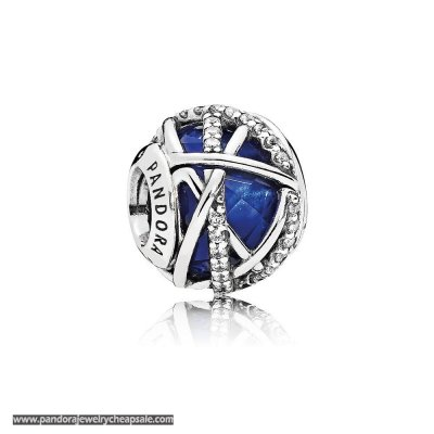 Pandora Zodiac Celestial Charms Galaxy Charm Royal Blue Crystal Clear Cz Cheap Sale