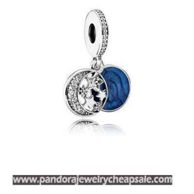 Pandora Zodiac Celestial Charms Vintage Night Sky Pendant Charm Shimmering Midnight Blue Enamel Clear Cz Cheap Sale