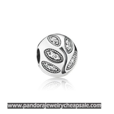 Pandora Clips Charms Sparkling Leaves Clip Clear Cz Cheap Sale