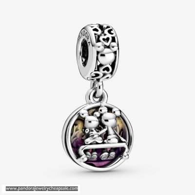 Pandora Disney Mickey Mouse & Minnie Mouse Happily Ever After Dangle Charm Cheap Sale