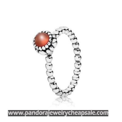 Pandora Rings Birthday Blooms Ring July Carnelian Quick View Cheap Sale