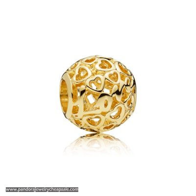 Pandora Glowing With Love 14Ct Gold Charm Cheap Sale