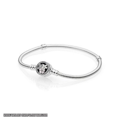 Pandora Bracelets Classic Poetic Blooms Bracelet Mixed Enamels Clear Cz Cheap Sale