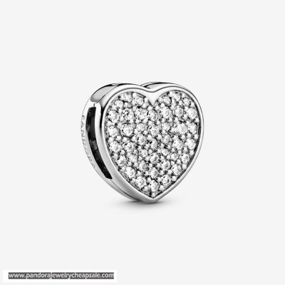 Pandora Pavement Heart Clip Charm Cheap Sale