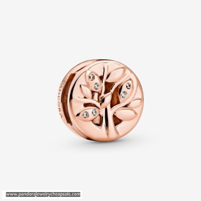 Pandora Sparkling Family Tree Clip Charm Cheap Sale