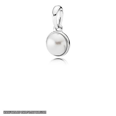 Pandora Pendants Luminous Droplet Pendant White Crystal Pearl Cheap Sale