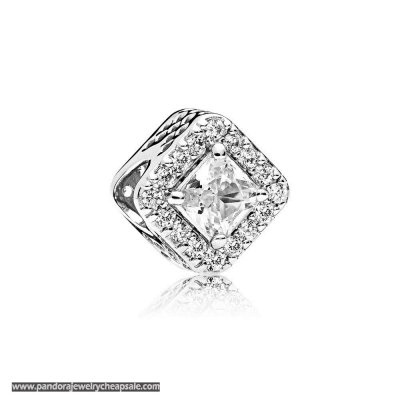 Pandora Contemporary Charms Geometric Radiance Charm Clear Cz Cheap Sale