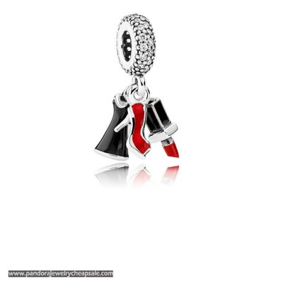 Pandora Passions Charms Chic Glamour Glamour Trio Pendant Charm Mixed Enamel Clear Cz Cheap Sale