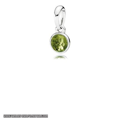 Pandora Pendants August Droplet Pendant Peridot Cheap Sale