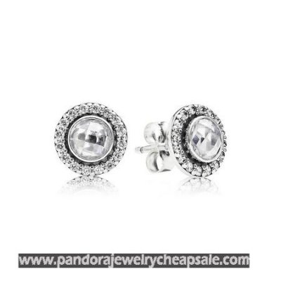Pandora Earrings Brilliant Legacy Stud Earrings Clear Cz Cheap Sale