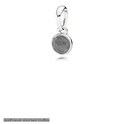 Pandora Pendants June Droplet Pendant Grey Moonstone Cheap Sale