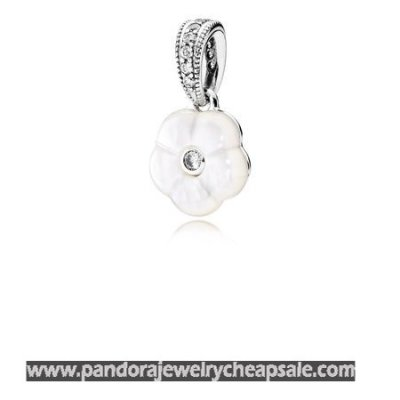 Pandora Pendants Luminous Florals Pendant Mother Of Pearl Clear Cz Cheap Sale
