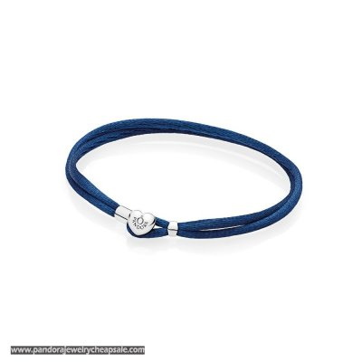 Pandora Bracelets Cord Dark Blue Fabric Cord Bracelets Cheap Sale