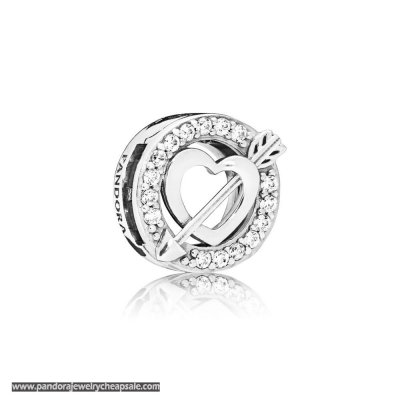 Pandora Reflexions Asymmetric Heart And Arrow Clip Charm Cheap Sale