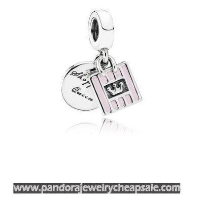 Pandora Passions Charms Chic Glamour Shopping Queen Pendant Charm Soft Pink Enamel Cheap Sale