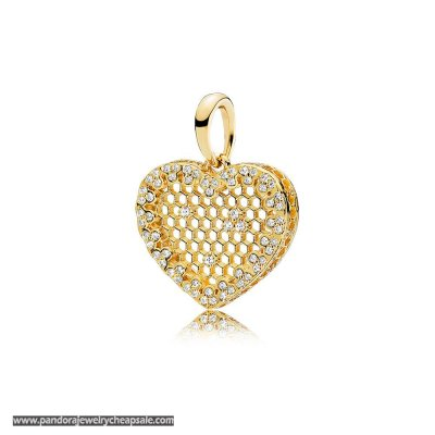 Pandora Shine Honeycomb Lace Necklace Pendant Cheap Sale