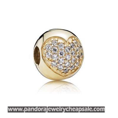 Pandora Family Charms Love Of My Life Clip Clear Cz 14K Gold Cheap Sale
