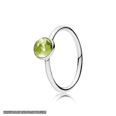 Pandora Rings August Droplet Ring Peridot Cheap Sale