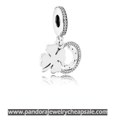 Pandora St. Patrick'S Day Good Luck Charms Lucky Day Pendant Charm Clear Cz Cheap Sale