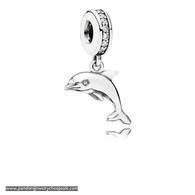 Pandora Animals Pets Charms Playful Dolphin Pendant Charm Clear Cz Cheap Sale