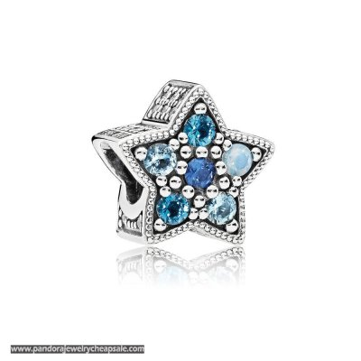 Pandora Zodiac Celestial Charms Bright Star Charm Multi Colored Crystals Cheap Sale