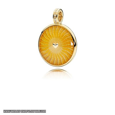 Pandora Shine Rays Of Sunshine Necklace Pendant Cheap Sale