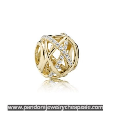 Pandora Zodiac Celestial Charms Galaxy Charm Clear Cz 14K Gold Cheap Sale