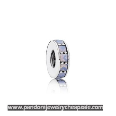 Pandora Spacers Charms Eternity Spacer Opalescent White Crystal Cheap Sale