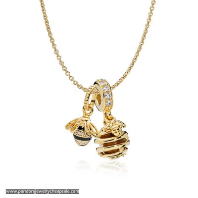 Pandora Shine Honeybee Necklace Set Cheap Sale