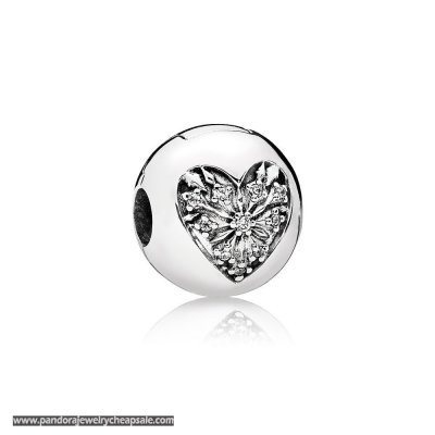Pandora Clips Charms Heart Of Winter Clip Clear Cz Cheap Sale