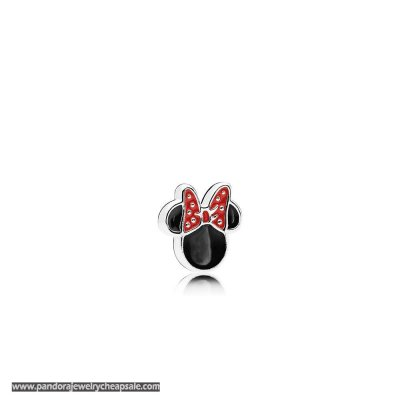 Pandora Disney Charms Minnie Icon Petite Charm Red Black Enamel Cheap Sale